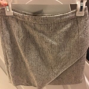 Sparkle asymmetrical mini skirt
